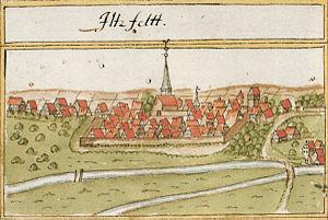 Ilsfeld - Depiction of Ilsfeld on Andreas Kieser's 1685 forestry map