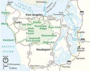 Olympic Peninsula - The peninsula and Olympic National Park