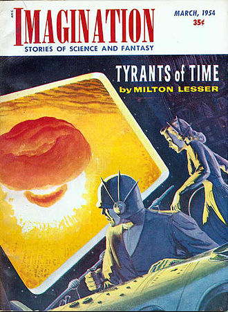 Apocalyptic and post-apocalyptic fiction - Imagination magazine cover, depicting an atomic explosion, dated March 1954.
