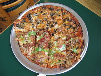 St. Louis cuisine - St. Louis-style pizza with Provel cheese
