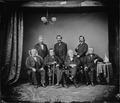 Impeachment Board, (7)Gen. John A. Logan (1)Gen. Benk Butler (6)Hon. G.S. Boutwell (4)Hon. John A. Bingham, Ohio... - NARA - 528359.tif