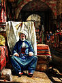 In the Bezestein, El Khan Khalil, Cairo, by John Frederick Lewis, 1860.jpg