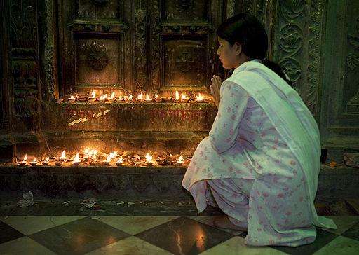 India - Varanasi candle temple - 2196