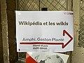"""Indication Journée """"Wikipédie et les wikis"""" au CNAM à Paris (juin 2019).jpg"""
