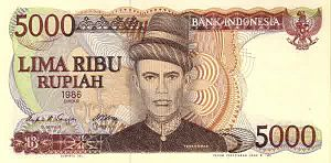 Teuku Umar - Teuku Umar featured on the 5,000-rupiah banknote.