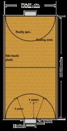 Hallenhockeyspielfeld