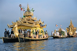 Inle Lake - Religious event in Inle Lake