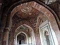 Inner view of dome of Qila Kuhna Masjid inside Purana Qila, Delhi 23.jpg
