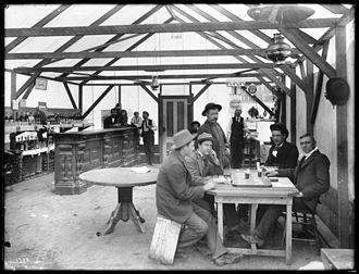 Randsburg, California - Inside the Yellow Aster Saloon, Randsburg, California, ca.1900