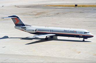 Inter-Canadien - Fokker 100 in 1989