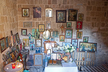 Interior of Church of Saint Constantine and Helen, Rhodes 2010.jpg