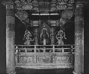 Chūson-ji - Image: Interior of Konjikido, Chusonji (62)