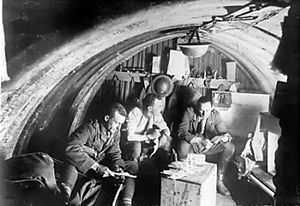 Battle of Langemarck (1917) - Image: Interior of a dugout