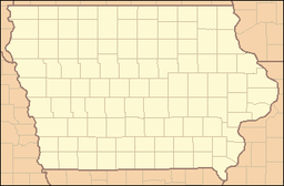 Location of Yellow River State Forest in Iowa