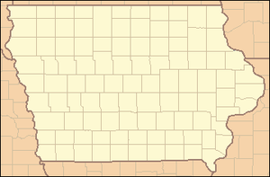Backbone State Park - Image: Iowa Locator Map
