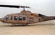Iraqi Model 214ST SuperTransport helicopter, 1991