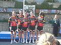 Island Games 2011 Town Centre Criterium cycling team Isle of Man.JPG