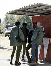 Israeli soldiers and Arabs