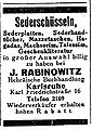 Israelit 26 3 1925 Anzeige Rabinowitz.jpg