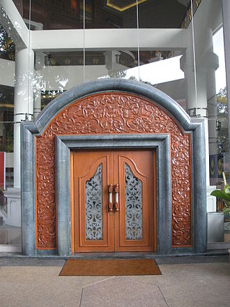 Istana Budaya - One of the doors with traditional Malay motifs