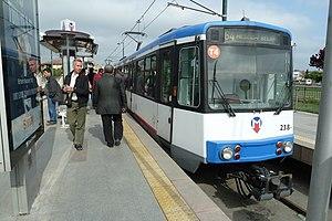 Istanbul Tram - Image: Istanbul T4 Düwag KTA Tram