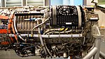 J79-IHI-11A turbojet engine(cutaway model) compressor section right side view at JASDF Hamamatsu Air Base Publication Center November 24, 2014.jpg