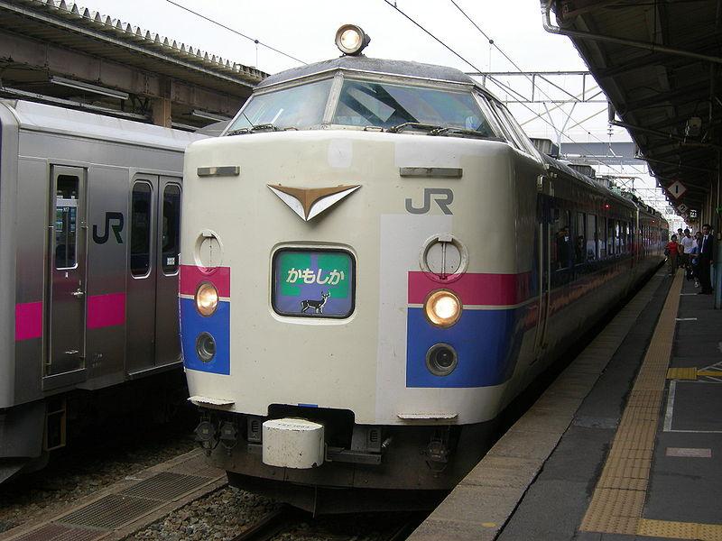 485系電車で運行されていた、かもしか号。 (2007年9月15日 青森駅)