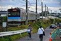 JRE 205 set M15 Takagimachi Station 2016-10-10 (30051058894).jpg