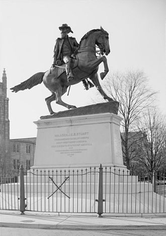 Monument Avenue - J.E.B. Stuart statue on Monument Avenue, Richmond, VA, unveiled May 30, 1907