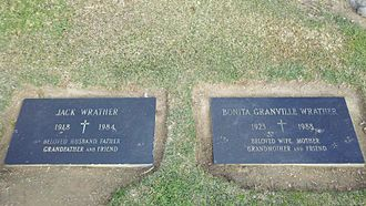 Jack Wrather - Jack Wrather's grave, next to that of his second wife Bonita Granville, at Holy Cross Cemetery, Culver City, California