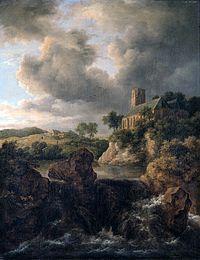 Jacob van Ruisdael - Waterfall with Church d1361025x.jpg