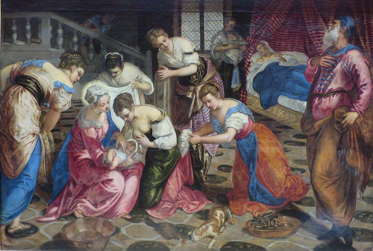 El nacimiento de Juan el Bautista (Tintoretto, 1550) - Wikipedia, la ...