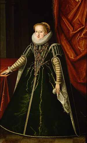 Archduchess Gregoria Maximiliana of Austria - Portrait of Archduchess Gregoria Maximiliana, by Jakob de Monte, ca. 1592/93