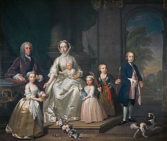 James Douglas, 14th Earl of Morton - James Douglas, 14th Earl of Morton, portrait with his family by Jeremiah Davison, 1740