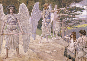 Garden of Eden - Expulsion from Paradise, painting by James Jacques Joseph Tissot