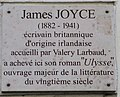 James Joyce plaque - 71 rue de Cardinal Lemoine, Paris 5.jpg