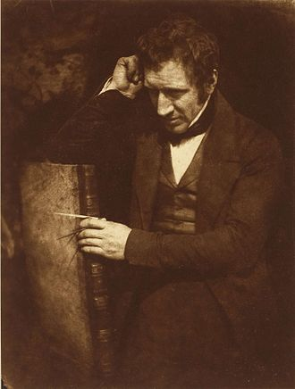 Eccles, Greater Manchester - A calotype of James Nasmyth, pictured c. 1844 by Hill & Adamson