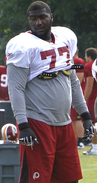 Jammal Brown - Brown at Redskins training camp in 2011.