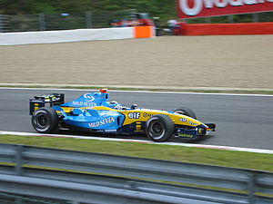 2004 Belgian Grand Prix - Jarno Trulli took pole position for the Renault team.