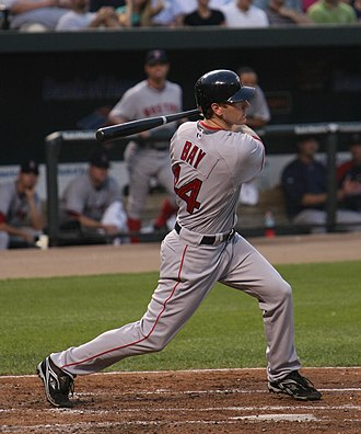 Jason Bay - Bay batting for the Red Sox on August 18, 2008