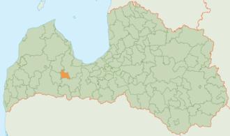 Jaunpils Municipality - Image: Jaunpils novada karte