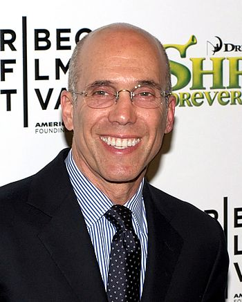 English: Jeffrey Katzenberg at the 2010 Tribec...