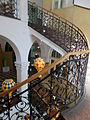 Jelky School. Staircase, wrought iron. - Budapest.JPG