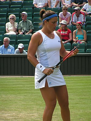 Jennifer Capriati at the Wimbledon tournament,...