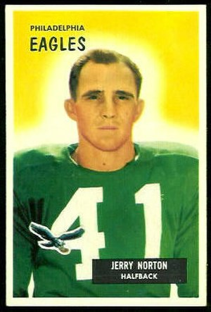 Jerry Norton - Norton on a 1955 Bowman football card