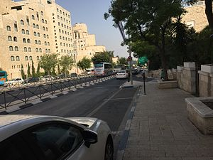 Jerusalem Light Rail - Bus rapid transit along Keren HaYesod Street