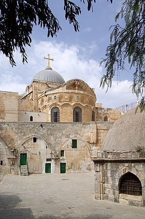 Palestinian Christians - View of the Holy Sepulchre, Jerusalem