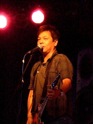 The Dawn (band) - Jett Pangan performing onstage.