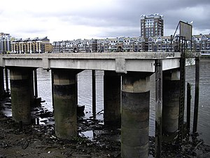 Fulham Power Station - Image: Jetty on the River Thames geograph.org.uk 1395244