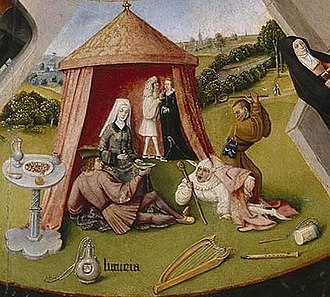 Lust - Detail: Luxuria (Lust), in The Seven Deadly Sins and the Four Last Things, by Hieronymus Bosch